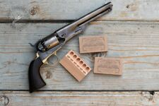 Civil war Colt style revolver cartridge box in .36 caliber (2pc)