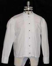 "VICTORIAN White LACE BLOUSE Top Shirt Austria PLEATED Women Dress Skirt B41"" M L"