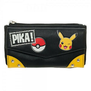Pokemon Pika! Flap Wallet OS - Black