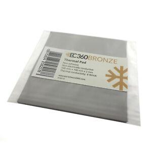 EC360® BRONZE 8W/mK Wärmeleitpad (100 x 100 x 2,0 mm) I ThermalPad GPU Titanium