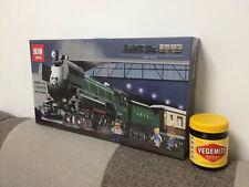 Brand NEW Emerald Night steam Train 10194 fits all Lego train tracks + carriage