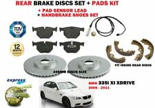 para BMW 335i 2006- > DISCOS DE FRENO TRASERO 336mm Set Y KIT +Zapato +SENSOR