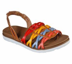 SKECHERS, Sandalo Casual da donna Multicolor, cinturino elastico, Mare, Vegan