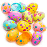 12 PCS Plastic Fillable Easter Eggs In Assorted Colours Toy Party Decoration New