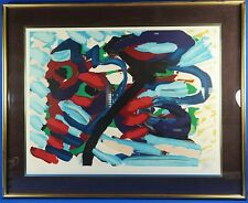 Rare Karel Appel Signed & Numbered Untitled Cat Series Lithograph Well Framed