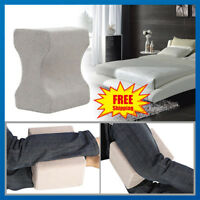 MEMORY FOAM ORTHOPAEDIC LEG PILLOW BACK HIPS & KNEE SUPPORT CUSHION WITH COVER