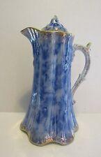 Antique Warwick China Flow Blue Pitcher Chocolate Pot