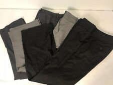 Lot of 3 Womens Size 4/6 Black Gray Career Dress Pants NYC Calvin Klein Limited