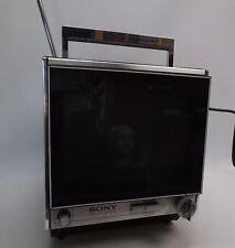More details for sony vintage 1970s silver transistor tv model 9-90ub 8