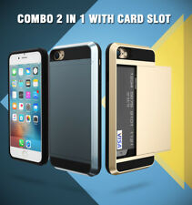 Slim Card Shockproof Hybrid Wallet Case Cover Tough Hard For All Apple iPhone