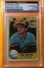 PAUL MOLITOR  HISTORIC AUTOGRAPHS HOF INDUCTEES AUTOGRAPHED1981 FLEER CARD # 515