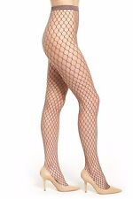 WOLFORD MADELINE Fishnet Tights Pantyhose Clove Sz:M  Ret:$67 New/Packaged