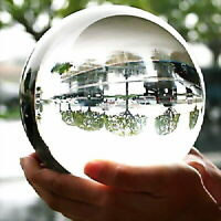 40-100mm Natural Clear Obsidian Sphere Large Crystal Ball Healing Stone