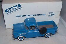 1:24 Danbury Mint 1958 Chevrolet Apache Pickup Truck Dawn Blue Mib