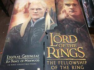 "New Sideshow 2008 Lord of the Rings Fellowship Legolas Greenleaf 12"" Figure NIB"