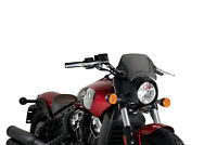 PUIG ALUMINIUM FRONTAL PLATE FOR INDIAN SCOUT BOBBER 18-19 BLACK