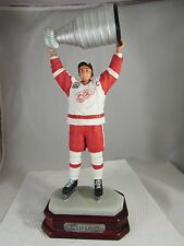 "2002 STANLEY CUP STEVE YZERMAN PORCELAIN FIGURE WITH WOOD BASE 14"" TALL"