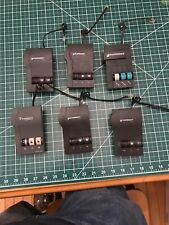 LOT of 6 Plantronics M12 VISTA Amplifiers With Power Supplies & Headsets AS-IS,