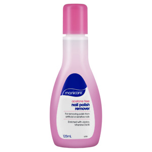 Manicare Acetone Free Nail Polish Remover 125mL Artificial or Sensitive Nails