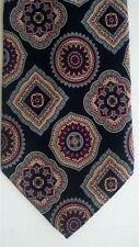 """Charney's Men's Other Neck Tie Silk Black Red Classic 3 1/2"""" x 56 1/2"""" Short"""