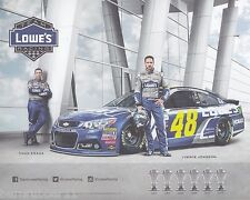 "2016 JIMMIE JOHNSON ""LOWES YELLOW NUMBER 1 OF 2"" #48 NASCAR SPRINT CUP POSTCARD"