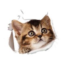 3D Wandsticker Wandtattoo Badezimmer  niedliche Katze ca. 20 cm x 17 cm