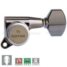 NEW Gotoh SG381-07 MGT Locking Mini Tuning Keys L3+R3 Set 3x3 - COSMO BLACK