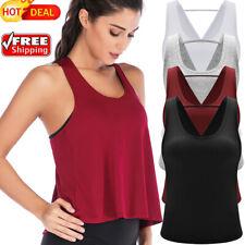 Women Sport Vests Fitness Running T Loose Singlet Tops Sling Sleeveless Clothes