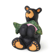 "Bearfoots ""Tiny Cub with Fish"" Mini Figurine from Big Sky Carvers # B5080063"