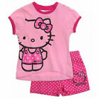 SANRIO ensemble short + t-shirt HELLO KITTY rose taille 6 mois NEUF
