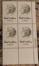 Scott 1731 Carl Sandburg Plate block of 4 MNH Free Shipping!!!