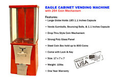 Eagle Cabinet 25¢ Capsule Toy Gumball Vending Machine (New ONE YEAR WARRANTY)