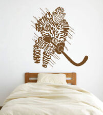 ik586 Wall Decal Sticker hockey stick puck rink sport team game kids bedroom