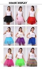 NEW Girls / Adult Tulle Party Ballet Mini Short Women Tutu Skirts Size  XS-XXXL
