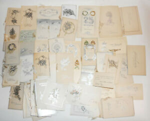 Konvolut alte Glückwunschkarten geprägte Karten Schmuckpapier um 1910 !