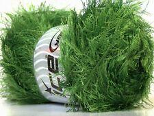 Large 100 gr Jungle / Grass Green Eyelash Yarn #22741 Ice Packer's Green Fun Fur