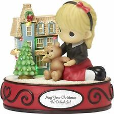 Precious Moments May Your Christmas Be Delightful Girl with Dollhouse Led 181103
