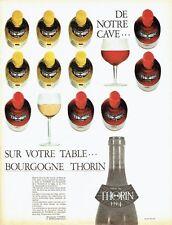 Publicité Advertising 037  1966   vin de Bougogne  Thorin