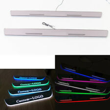 AutoPan Customized Dynamic LED Door Sill Scuff Plate Courtesy Light For Benz