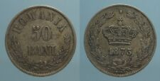 Romania 50 Bani 1873 (b) qSpl
