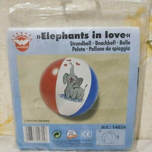 "Inflatable ""Elephants in love"" beach ball 32"" by Wehncke"