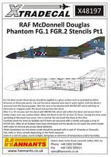 Xtra Decals 1/48 MCDONNELL DOUGLAS FG.1 FGR.2 PHANTOM II STENCILS