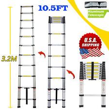 3.2M/10.5FT Aluminum Telescopic Telescoping Collapsible Loft Stretchable Ladder