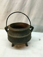 CAST IRON 3 LEG POT WITCH CAULDRON KETTLE FIREPLACE HEARTH Halloween decor