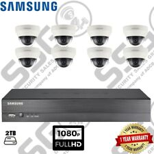 Supply & Fit SAMSUNG 8 telecamere CCTV DOME IR e l'obiettivo 1080p 4 mm & 8CH DVR 2 TB HDD