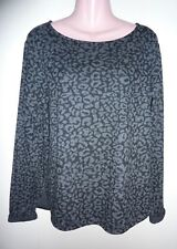 NWT H&M Black & Gray Leopard Print Pullover Top/Sweater/Sweatshirt S/M