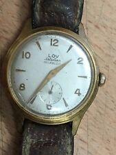 ancienne montre LOV Selection vintage watch mecanique  1960's
