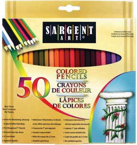 Pack of 50 Premium Coloring Pencils Assorted Colors 22-7251 Multicolor NEW