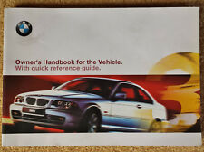 214 pag Genuine BMW 3 Series E46 Coupe 1999-2006 Owner's Handbook Manual Book