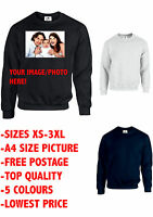 Your Image Photo Here Custom Top Jumper Personalised Stag Hen Gift (Sweatshirt)